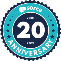Sorce 20th anniversary badge